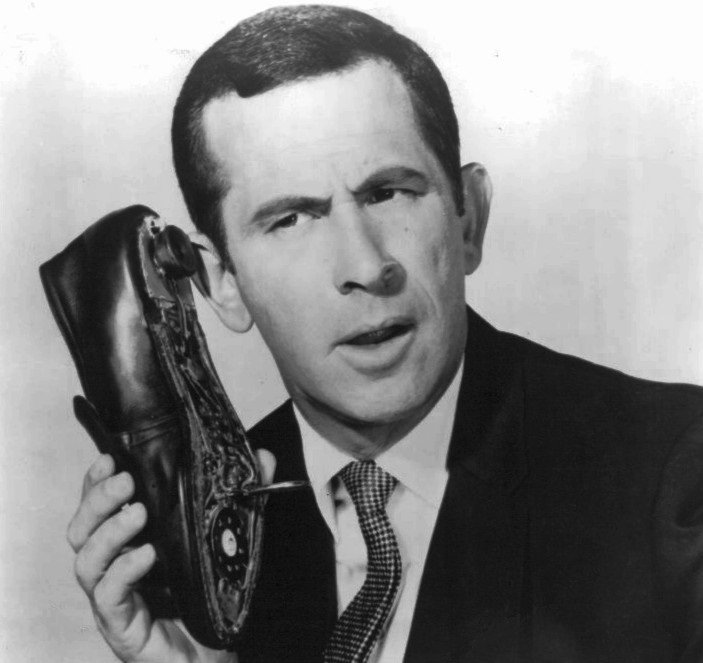 Shoe phone from Get Smart