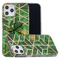 Marble Pattern Electroplated IMD iPhone 12 Pro Max TPU Case
