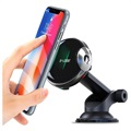 2-in-1 Car Holder & Qi Wireless Charger W5F - 15W - Black