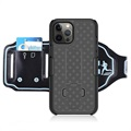 2-in-1 Detachable iPhone 12 Pro Max Sports Armband - Black