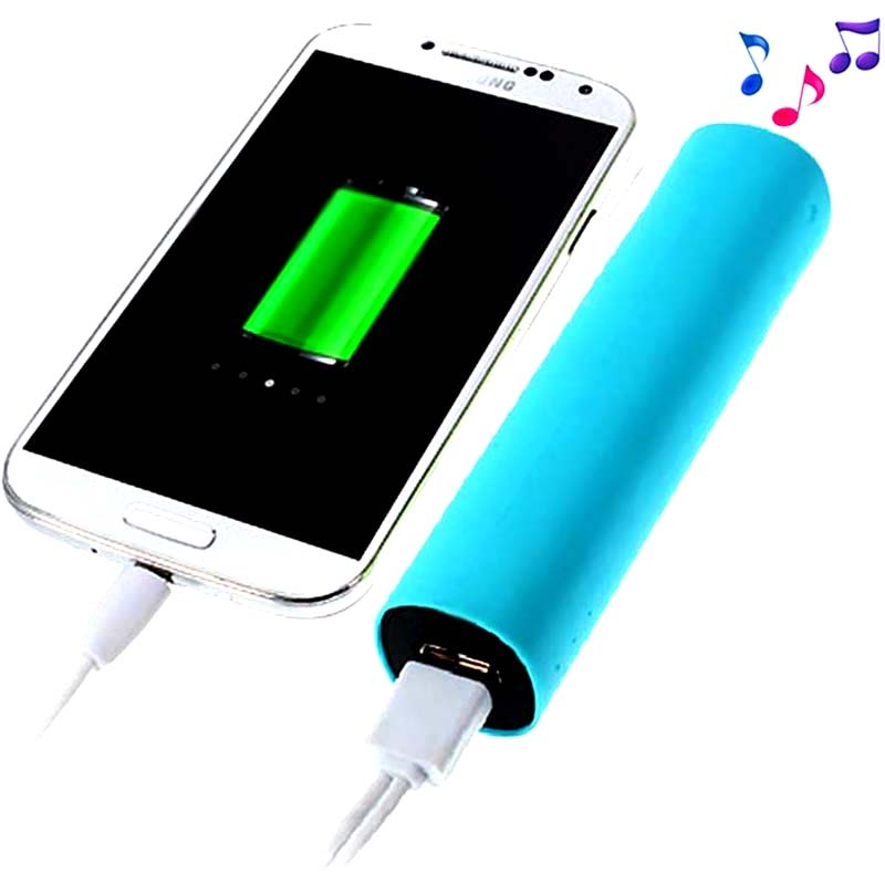 2 in 1 external battery power bank speaker blue. Black Bedroom Furniture Sets. Home Design Ideas