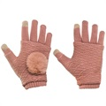 2-in-1 Handwarmer and Winter Touch Screen Gloves - Pink