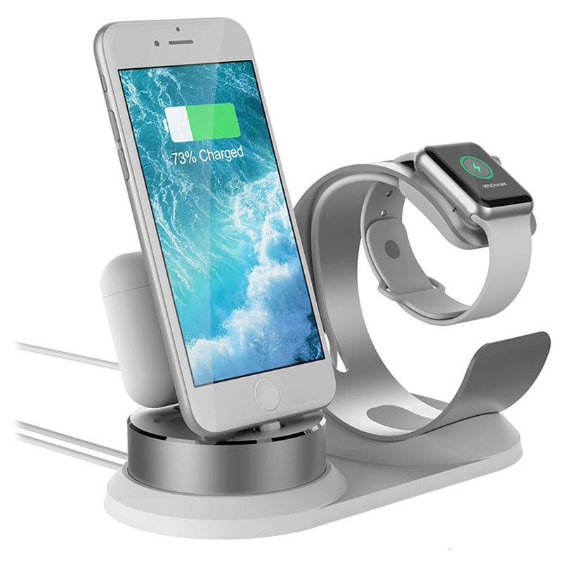 3 in 1 Holder Docking Station for iPhone, AirPods, Apple