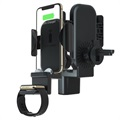 3-in-1 Universal Car Holder and Qi Wireless Charger - Black