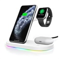 3-in-1 Wireless Charging Stand for Apple iPhone, iWatch, and Airpods - White