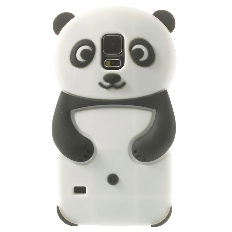 Samsung Galaxy S5 Panda 3d Silicone Case Black White