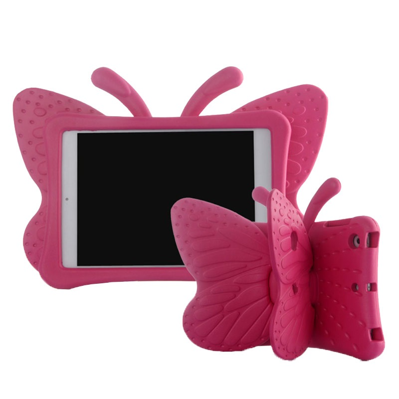 All iPad Mini models Kids Case - Butterfly - Hot Pink