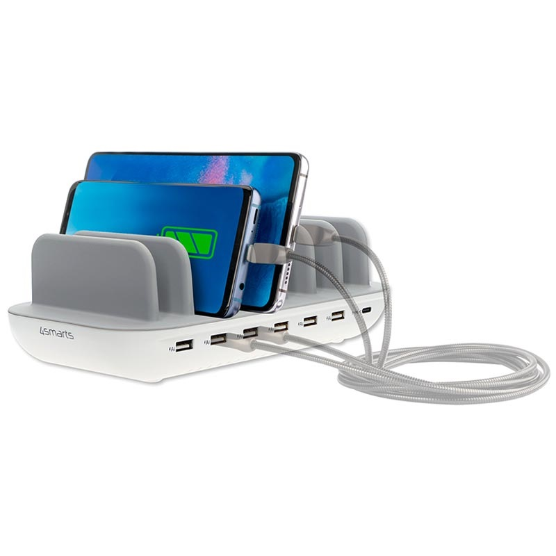 4smarts Office Docking Station with 7 Ports - 60W - White