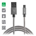 4smarts RapidCord MicroUSB Cable - 2m - Grey