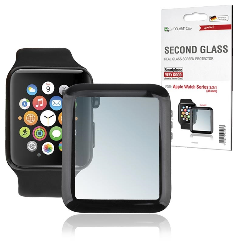 best website bf64a 232bb 4smarts Second Glass Apple Watch Series 1/2/3 Screen Protector - 38mm