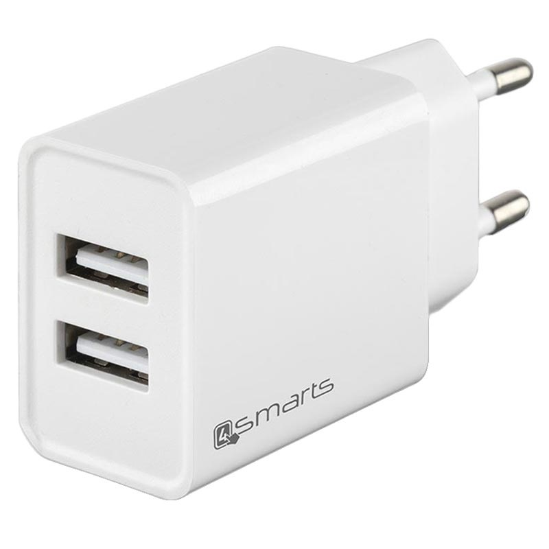 4smarts VoltPlug Dual USB Fast Wall Charger - 12W - White