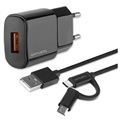 4smarts VoltPlug Wall Charger with ComboCord Cable - 18W