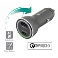 4smarts VoltRoad Super Fast Car Charger - USB PD & QC3.0 - 48W