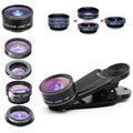 5-in-1 Universal Clip-on Camera Lens Kit for Smartphone, Tablet
