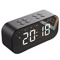 AEC BT501 Bluetooth Speaker with LED Alarm Clock - Black