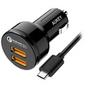 Aukey CC-T8 Qualcomm Quick Charge 3.0 Car Charger - Dual USB