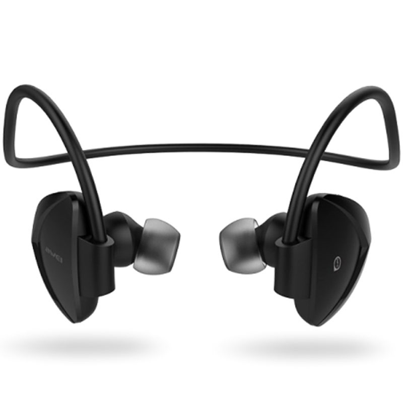 awei a840bl in ear sport bluetooth headphones black. Black Bedroom Furniture Sets. Home Design Ideas