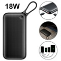 Baseus 20000mAh USB-C PD Power Bank - 18W - Black