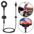 Baseus 3-in-1 Lightning Car Charger / Holder - iPhone X/XS max/8 Plus/7 Plus