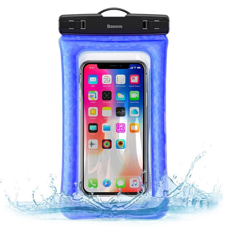 "Baseus Air Cushion IPX8 Waterproof Case - 6"" - Blue"