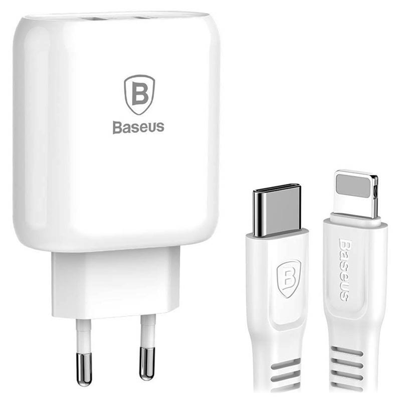 Baseus Bojure USB-C PD3.0 Charger & Lightning Cable - 32W - White