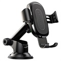 Baseus Gravity Car Holder / Qi Wireless Charger with Suction Mount - Black