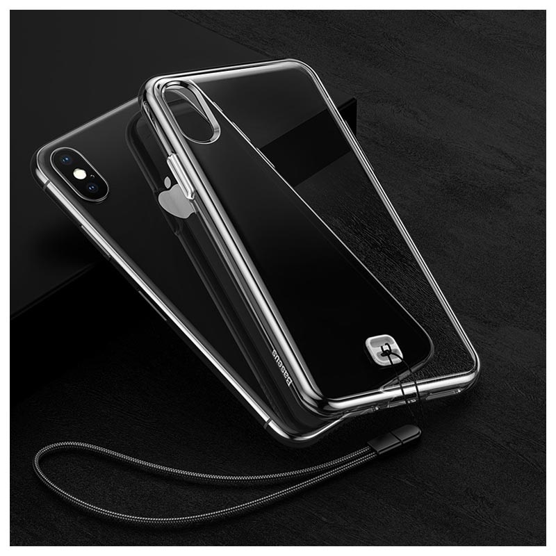 Baseus iPhone XS Max Hybrid Case with Lanyard - Transparent