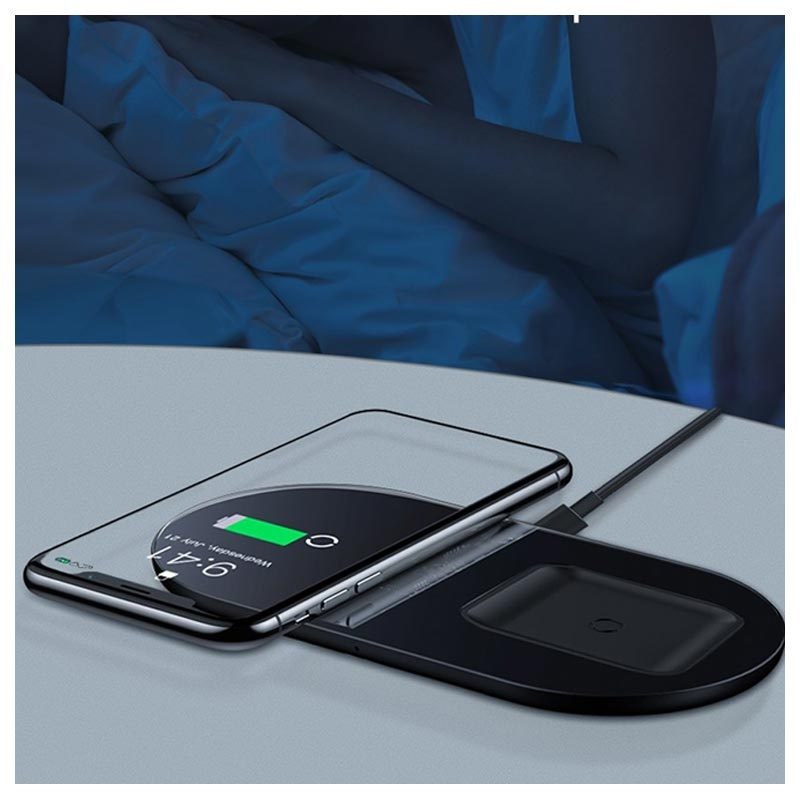 Baseus Simple 2-in-1 Pro Edition Dual Wireless Charger - 15W