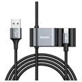 Baseus Special Data USB / Lightning Cable with USB Hub CALHZ-01 - Black