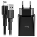 Baseus Speed Mini Wall Charger & Lightning Cable TZCCFS-R01 - Black