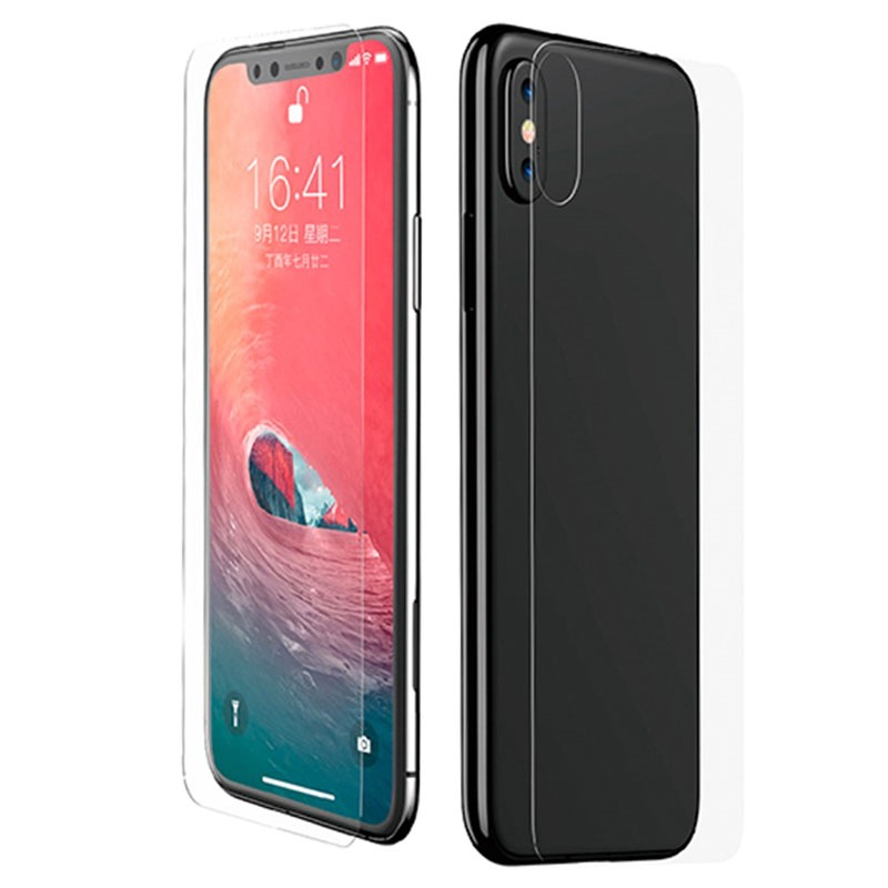 purchase cheap 5b3e5 37467 Baseus iPhone XS Max Tempered Glass Protection Set
