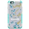 iPhone 6 / 6S Beyond Cell Tri Shield Hybrid Case - Blue Flowers
