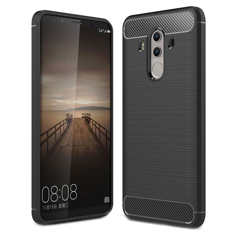 incontrare 76953 2892b Huawei Mate 10 Pro Brushed TPU Case - Carbon Fiber
