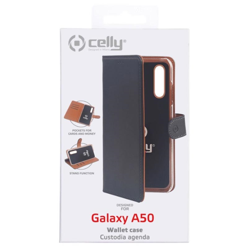 5465a131116 Celly Wally Samsung Galaxy A50 Wallet Case - Black