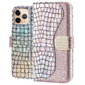 Croco Bling iPhone 11 Pro Max Wallet Case