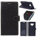 Crocodile Series Samsung Galaxy Note9 Wallet Case - Black