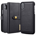 DG.Ming 2-in-1 iPhone X / iPhone XS Wallet Leather Case