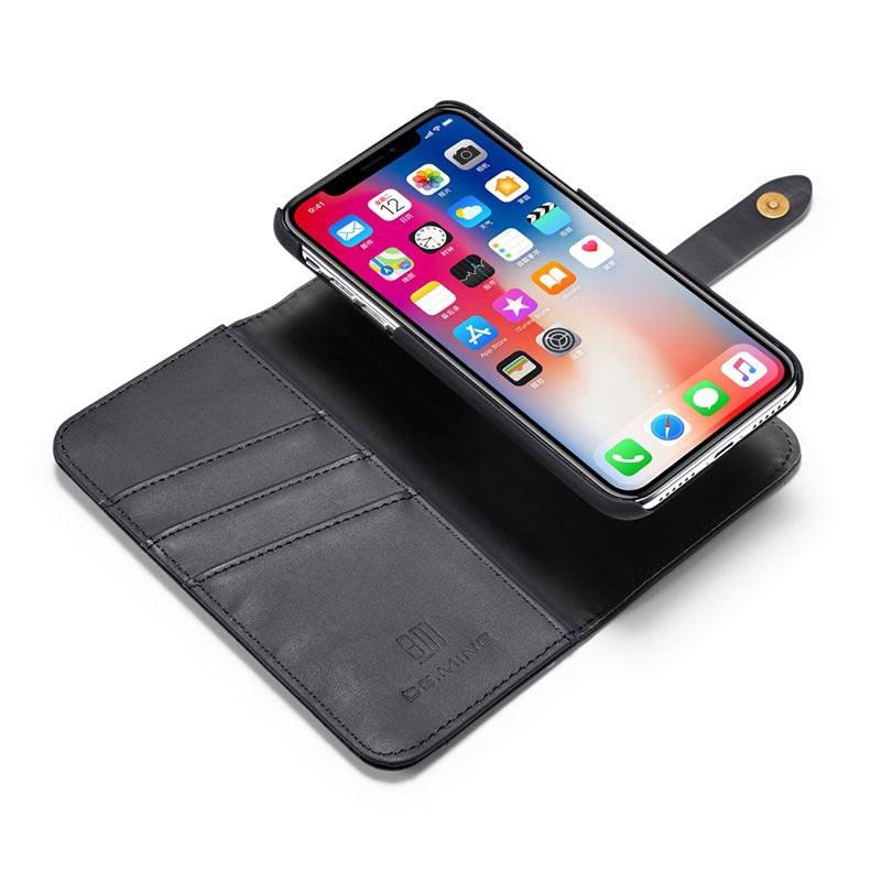 Custodia a Portafoglio in Pelle iPhone X / iPhone XS DG.Ming 2-in-1