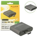 Delock USB Type-C SDHC/SDXC UHS-II Card Reader - Grey