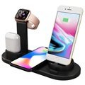 Docking Station with QI Wireless Charger UD15 - Black