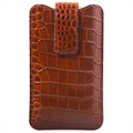 iPhone 6/6S/7/8 Plus Doormoon Leather Pouch - Crocodile - Brown