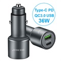 Dux Ducis Space B20 Fast Car Charger - Type-C PD, QC3.0 USB - 36W