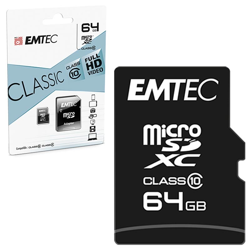 Emtec Classic Class 10 MicroSD Card - ECMSDM64GXC10CG