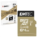 Emtec Elite Gold UHS-I U1 MicroSD Card - ECMSDM64GXC10GP - 64GB