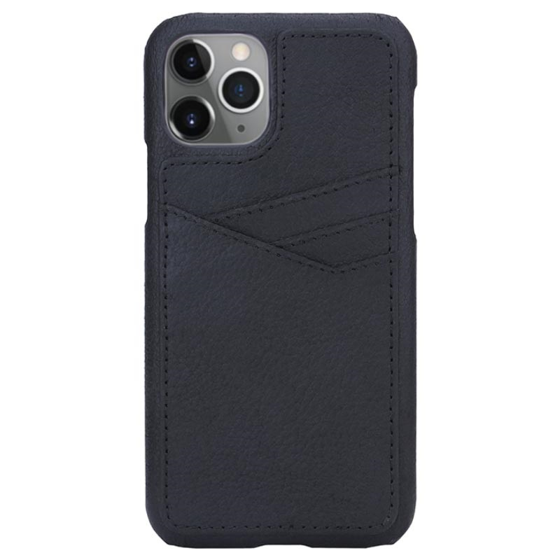 Essentials Triple Card iPhone 11 Pro Leather Case - Black