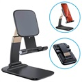 Foldable Gravity Desktop Holder for Smartphone/Tablet - Black