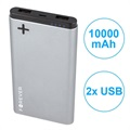Forever PTB-04M Power+ Dual USB Power Bank - 10000mAh - Grey