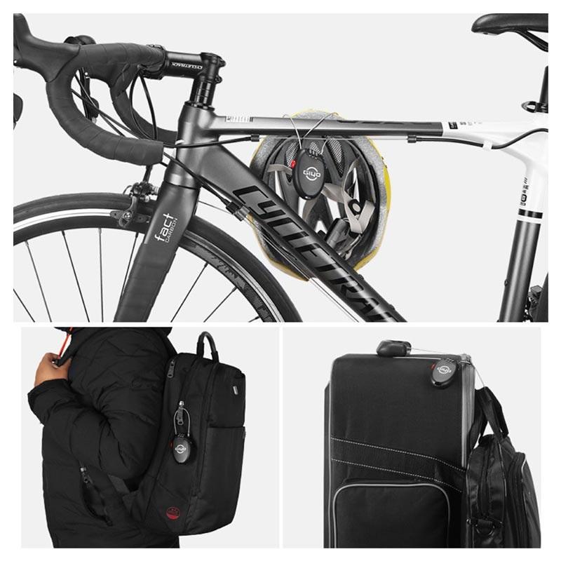 GIYO 3 Digit Password Bike Lock Multi Function Mini Cable Bicycle Anti Theft 1pc
