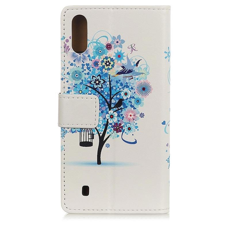 Glam Series Samsung Galaxy A10 Wallet Case - Flowering Tree / Blue