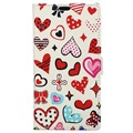 Glam Series Motorola One Power Wallet Case - Hearts